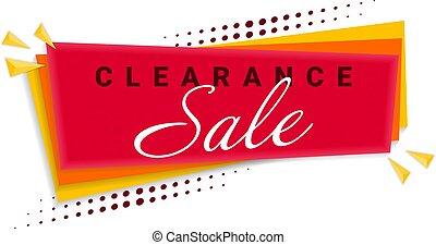 Clearance Sale Banner Template Design. Vector Illustration.