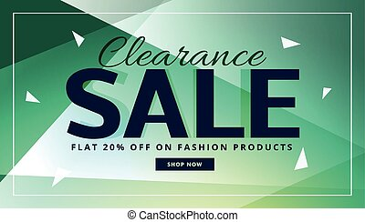 clearance sale banner with beautiful background