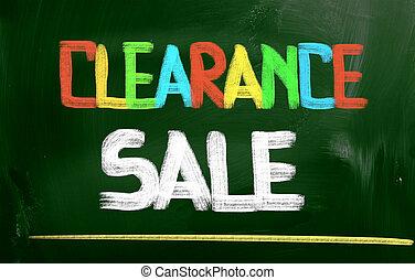 Clearance Sale Concept