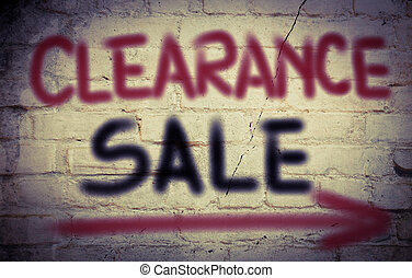 Clearance Sale Concept