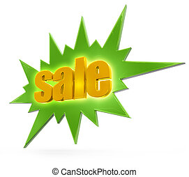 clearance sale label isolated on white background