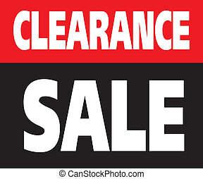 Clearance Sale Promotion Label