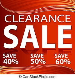 Clearance Sale Red Energy Wave Background