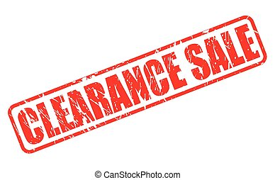 Clearance sale red stamp text