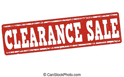 Clearance sale stamp