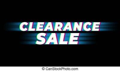 Clearance Sale Text Vintage Glitch Effect Promotion . - ...