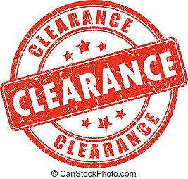 Clearance sale vector stamp