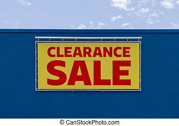 Clearance sale written on a billboard