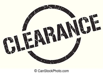 clearance stamp - clearance black round stamp