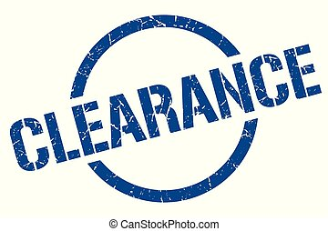 clearance stamp - clearance blue round stamp