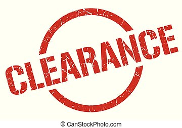 clearance stamp - clearance red round stamp