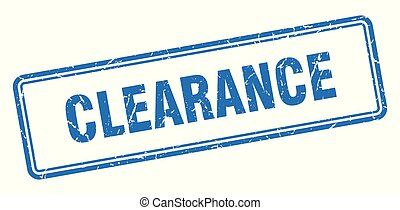clearance stamp. clearance square grunge sign. clearance