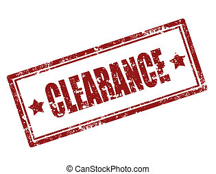 Clearance stamp - Grunge rubber stamp with word clearance...