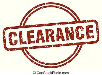 clearance stamp isolated on white