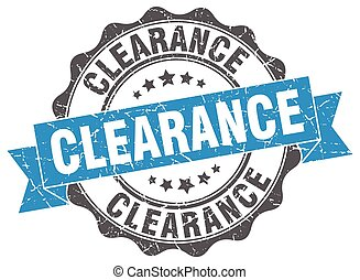 clearance stamp. sign. seal