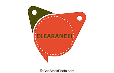Clearance Tag Template Isolated