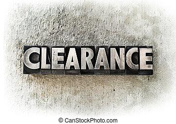 Clearance