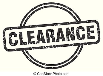 clearance vintage stamp. clearance sign