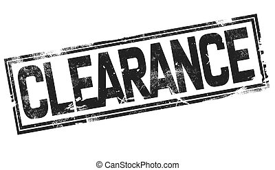 Clearance word with black frame