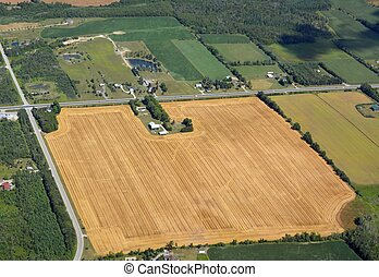 Clearview farmland, Ontario Canad