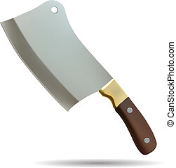 Cleaver isolated on white background vector illustration