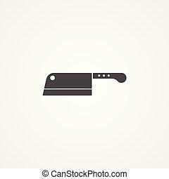 cleaver vector icon sign symbol