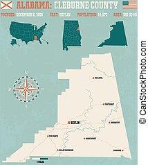 Cleburne County in Alabama USA