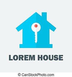 clef maison, logo
