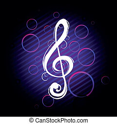 Clef on a colorful background