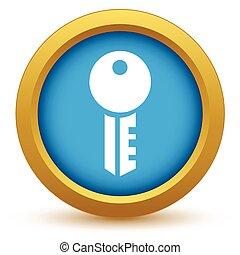 clef or, icône