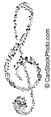 Clef - vector musical clef