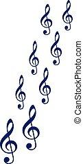 clefs, ozdobný