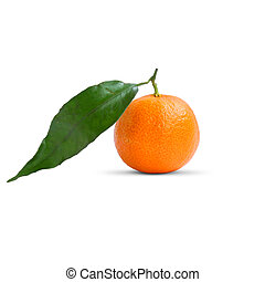 Clementine - sweet healthy fruit isolated on white...