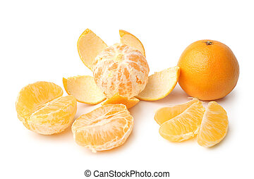 Clementines whole, peeled, halved and sectioned