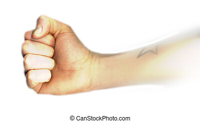 Clenched Fist also with a tattoo detail