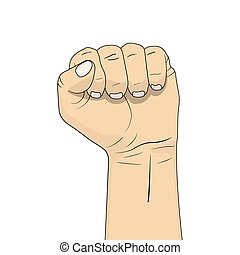 Clenched fist illustration