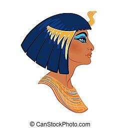 cleopatra, 有名, ほとんど, women., 隔離された, イラスト, 1(人・つ), エジプト, ...