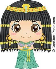 cleopatra, 衣装, 女の子, 子供, イラスト