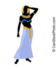 Cleopatra Illustration Silhouette - Cleopatra silhouette on...