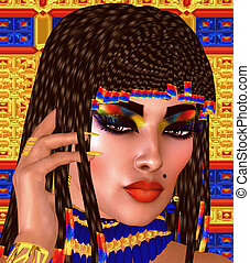 Cleopatra or any Egyptian Woman.