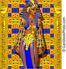 Cleopatra or Egyptian Woman Pharaoh
