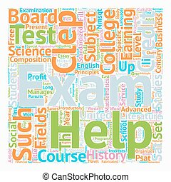 CLEPP Exam text background wordcloud concept