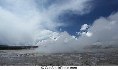 Clepsydra Geyser in Yellowstone