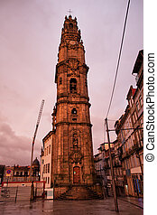 Clerigos Church Tower at Sunset in Porto