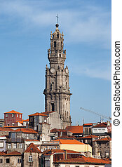 Clerigos Church Tower in Porto - Porto in Portugal, Clerigos...
