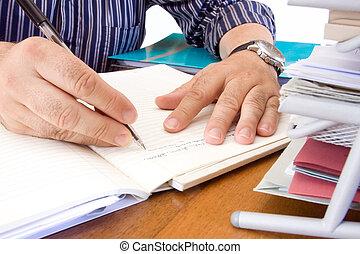 clerk busy in a office