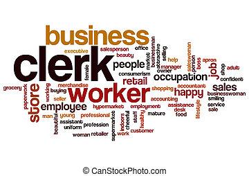 Clerk word cloud