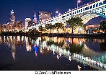 Cleveland Night Skyline