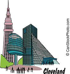 Cleveland Ohio Clip Art - Cleveland Ohio clip art.