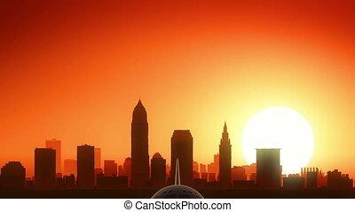 Cleveland Ohio USA America Skyline - Very useful for travel...